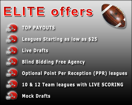 ELITE FANTASY FOOTBALL LEAGUE offers: